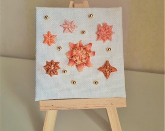 MINI CANVAS flowers and stars