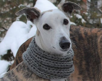 Whippet Clothing Whippet Cowl Grey Dog Cowl Dog Snood Dog Hoodie Dog Accessories Greyhound Clothing Greyhound Cowl Dog Scarf