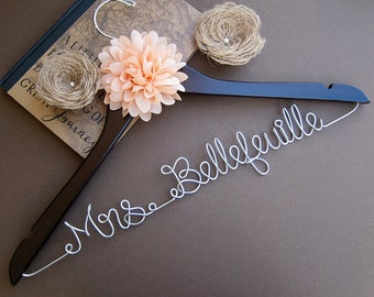 SALE Wedding Hanger / Bridesmaid gift / Bridal Hanger / Bridal Shower Gift / Bridal Party / Maid of Honor / Graduation Gift/
