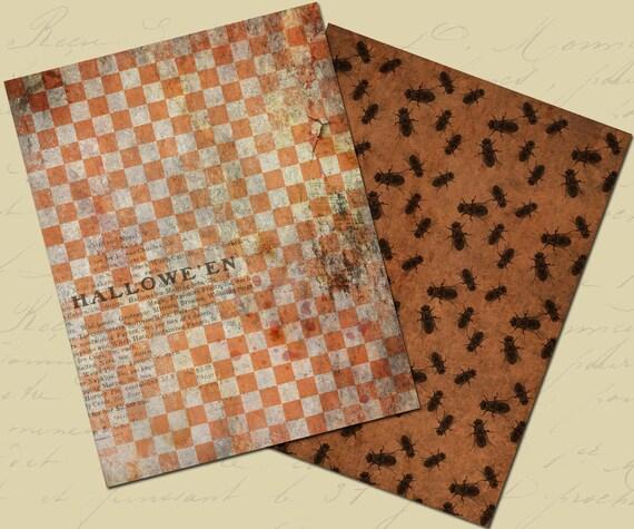 Halloween Digital Paper Halloween Paper Pack Halloween