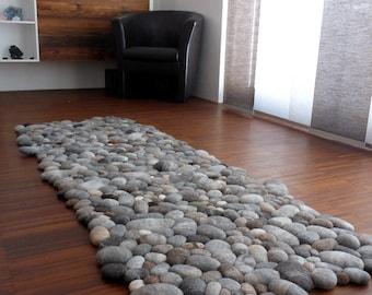 Felt Carpet Supersoft Pebbles   Felt Stone Carpet, Wool From Sheep U0026 Lama