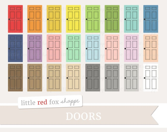 house door clipart. Door Clipart, House Clip Art Household Bedroom Room Wood Wooden Doorknob Window Frame Home Cute Digital Graphic Design Small Commercial Use Clipart O