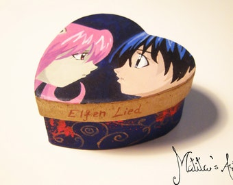 Anime hand painted boxes series / Elfen Lied Box