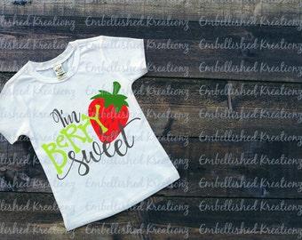 I'm Berry Sweet Vinyl Decal/Tumbler/Baby Onesie/BodysuitT-Shirt/HTV/Strawberry/HTV DIY