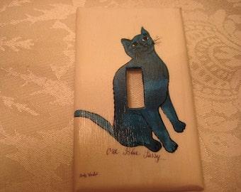 Blue Kitty Switchplate (single regular)
