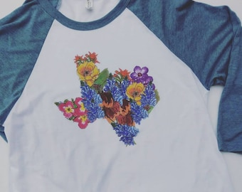 Texas Wildflower tee