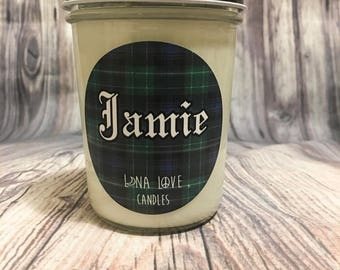 8 oz 100% Soy Jamie Fraser Inspired Scented Candle