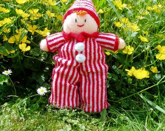 PDF Knitting Pattern - Clown