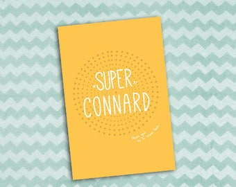 """Card """"Super bitch"""" because sometimes it's necessary to have on hand"""