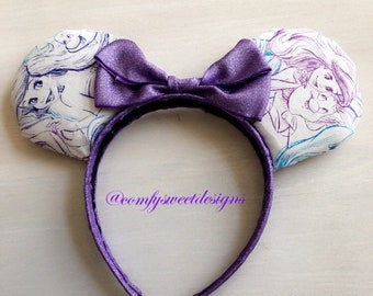 Ariel Mermaid Pattern Ears