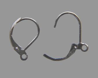 Bag of 20 brackets support earrings sleepers silver dark gunmetal - free shipping