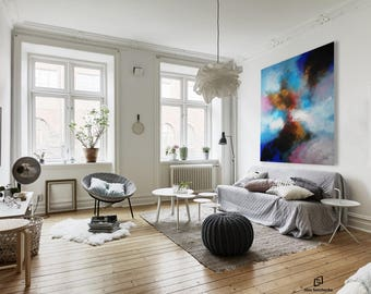 Art Painting wall art large painting abstract painting acrylic painting oil painting from Alex Senchenko.  100% Hand-Made.  LOOKS GREAT !