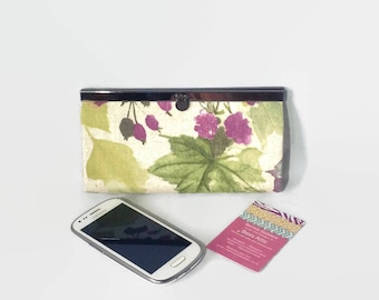 Floral Purse, clutch purse, womans purse, wallet, gift for her, second, credit card holder