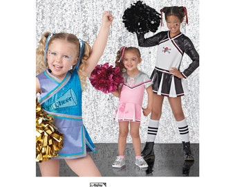 Simplicity Pattern  8240 Child's and Girls' Cheerleading Costumes