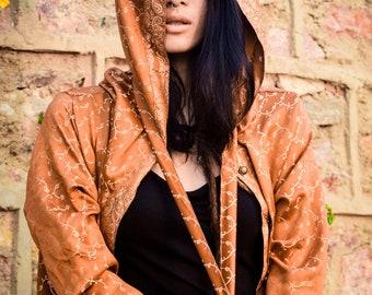 Handmade Majestic Kimono Robe, Ethnic Cloak, Eastern Cape, Sultan Vibe, Burning Man Kimono,