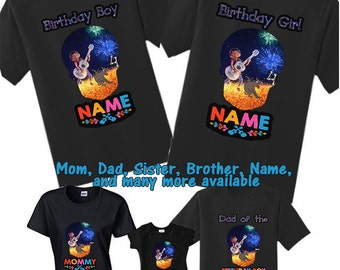 Coco Birthday Shirts, Family Disney, Family Coco Shirt, Black Coco Shirts, Custom Coco Movie Birthday Shirt