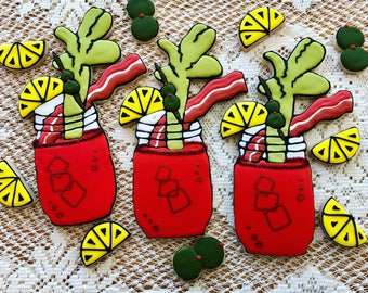Bloody Mary Cookies