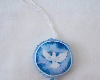 Religious Door hanger - Peace Dove, Handmade Fabric door hanger