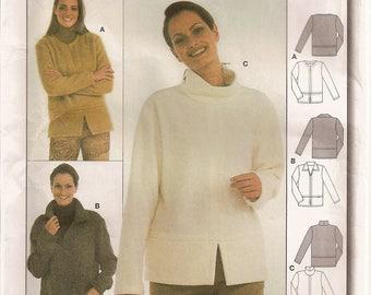 Burda 8569, Sewing Pattern, Misses Shirt, Long Sleeve Shirt, Misses Jacket, Lightweight Jacket, Loose Fitting Shirt,Size 8 10 12 14 16 18 20