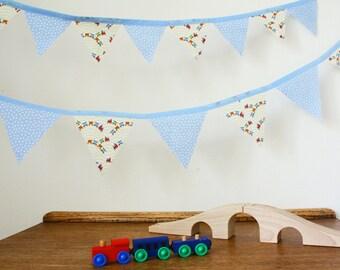 Train bunting, train bedroom, train nursery, boy's bedroom, boy's nursery, boy's playroom, train decor, playroom decor, nursery decor