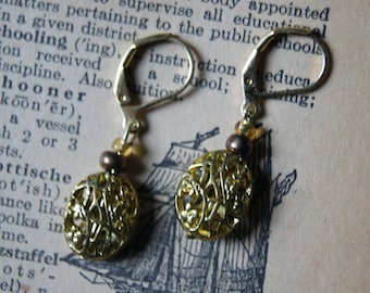 Gold Filigree Earrings