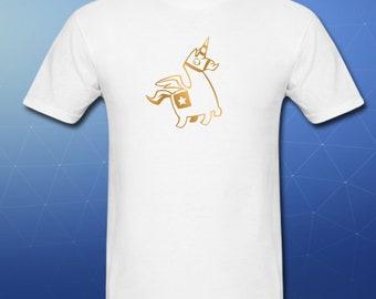 Fortnite Unicorn Loadscreen Tshirt xbox ps4 kids tee