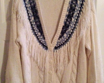 80's oversized cardigan sweater by Huntington Ridge/size M