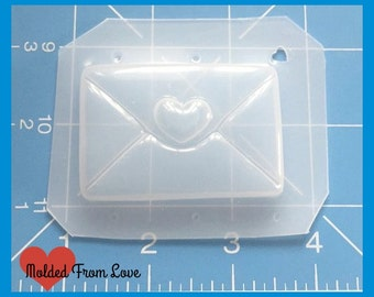 SALE Love Letter with Heart  Handmade Plastic Mold