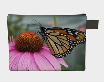 Monarch Butterfly, Zipper Carry-All, Pouch, Storage, Electronic Dust Jacket, Diaper Bag, Bag, Storage Pouch, Butterfly Bag, Butterfly Pouch