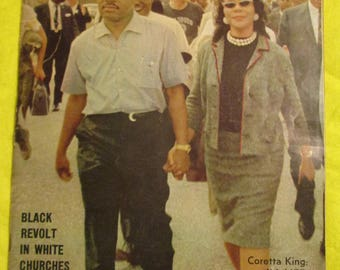 M L K Gone April 4, 1968------ EBONY Magazine September 1968 With Dr King and Coretta