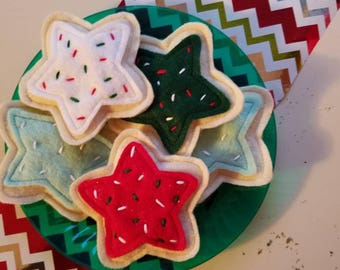 Catnip Sugar Cookie | Christmas Cat Toy with Certified Organic Catnip | Many Colors Available!