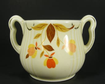 Sugar Bowl by Hall in Autumn Leaf Pattern for Jewel Tea Company Rayed Sugar Bowl with No Lid