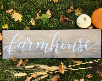 Farmhouse Rustic Wood Sign - Entry Sign - Doorway Sign -  Grey Stain -