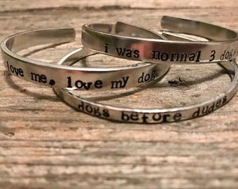 Dog lover trio of bracelets