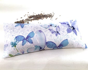 Organic Lavender Eye Pillow, Butterflies, heat pack, aromatherapy gifts, spa gifts, yoga gifts, yoga accessories, restorative gifts