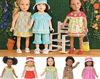 """Simplicity Sewing Pattern 1136 Everyday Clothes for 18"""" Dolls"""