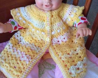 Baby girl short sleeve cardigan (crochet)