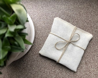 Lavender sachet 10x10 cm   french dry lavender sachets   natural fragrance home freshener   dried lavender pillow   ecru fabric