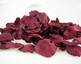 Rose Petals / BULK / Burgundy Deep Red Rose Petals  500 Artificial Petals   Burgundy Wedding Decoration Flower  Petals