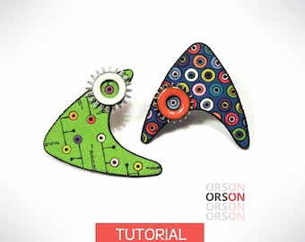 Orson's Beam me up, Scotty! in polymer clay Original tutorial e-book in ENGLISH only
