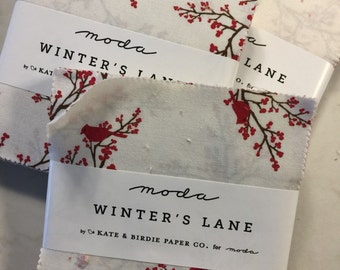 "Kate & Birdie Paper Co WINTERS LANE quilting 5"" Charm Pack VHTF"