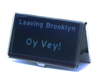 CARD CASE - Oy Vey Card Case - Business Card Case - Card Holder - Leaving Brooklyn Card Case,Father's Day Gift