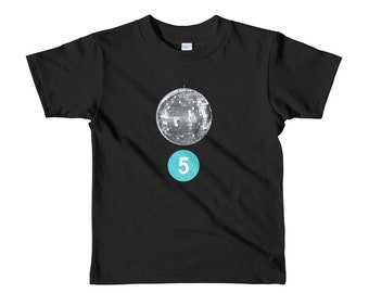 Short sleeve kids t-shirt DISCO BALL 5 Years Old