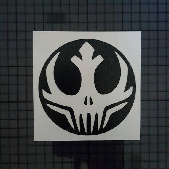 Star wars decal rebel alliance skull insignia solid design