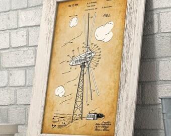Wind Turbine - 11x14 Unframed Patent Print