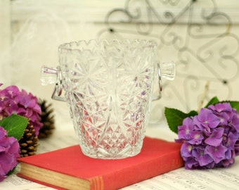 Coupe Vintage verre seau à glace-seau à glace en verre avec poignée – rende vintage