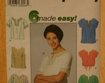 Simplicity Misses Top Pattern 8743 Sizes 12-14-16