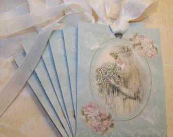 Bridal Tags Wedding Wish Tags Bridal Shower Favor Tags Set of 6 or 9
