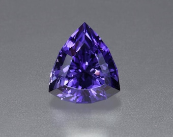 5.64ct- 11 X 12mm Rare Deep Purple Faceted Scapolite Trillion Loose Gemstone from Tanzania