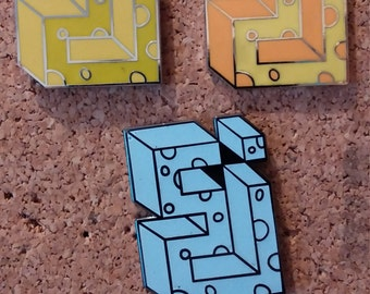 Cheese block string cheese incident sci eoto cheesy roots run deep electric forest original art pin (choice of 3)***FREE SHIPPING***